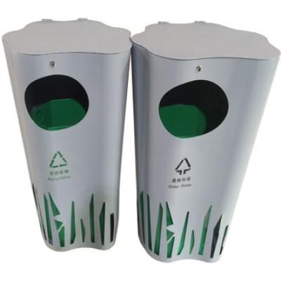 创意不锈钢垃圾桶异形景观园林街区广场垃圾果皮箱
