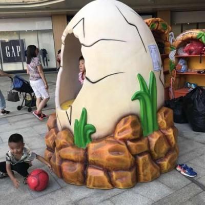 玻璃钢蛋壳创意造型街区广场美陈摆件