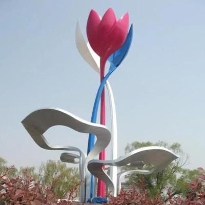 不锈钢花朵造型艺术户外景观摆件