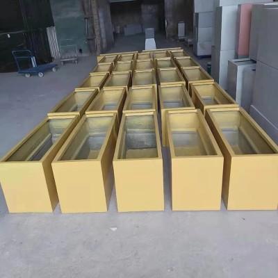 玻璃钢长方形深高盆移动花箱商业街景观花盆