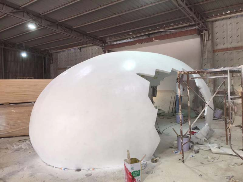 蛋壳屋子玻璃钢艺术造型道具摆件