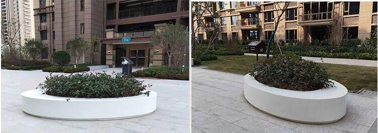 玻璃钢花盆商场酒店简约花坛创意艺术户外花箱