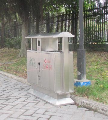 户外分类垃圾桶大号果皮箱双桶公园商用环卫小区室外不锈钢垃圾箱