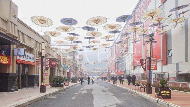 南平万达购物广场售楼处美陈设计制作