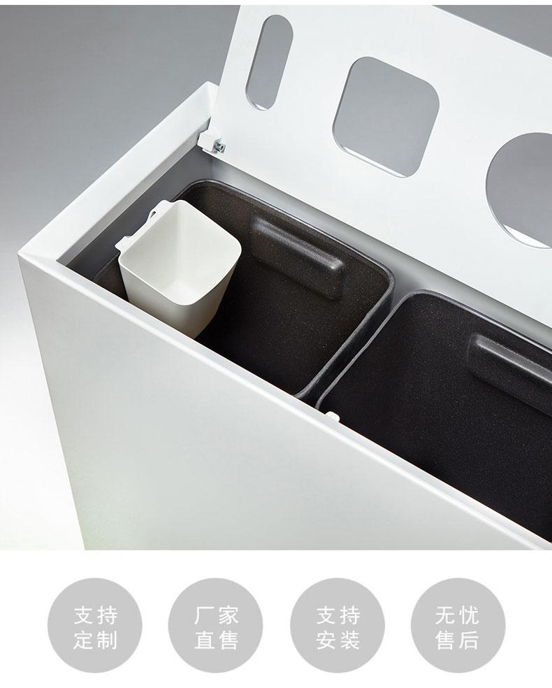锈钢垃圾桶户外简约果皮箱高档室外创意定制售楼部商业小区广场