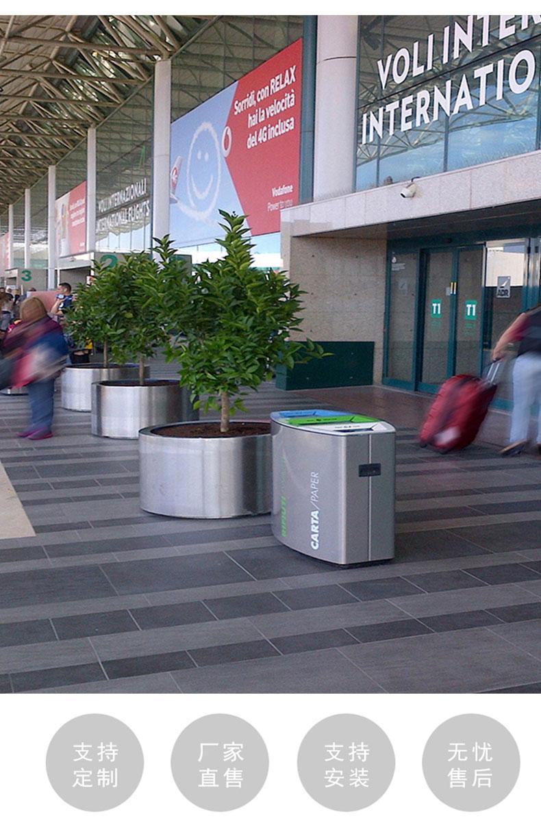 户外垃圾桶三分类大号创意果皮箱小区物业环卫不锈钢垃圾箱