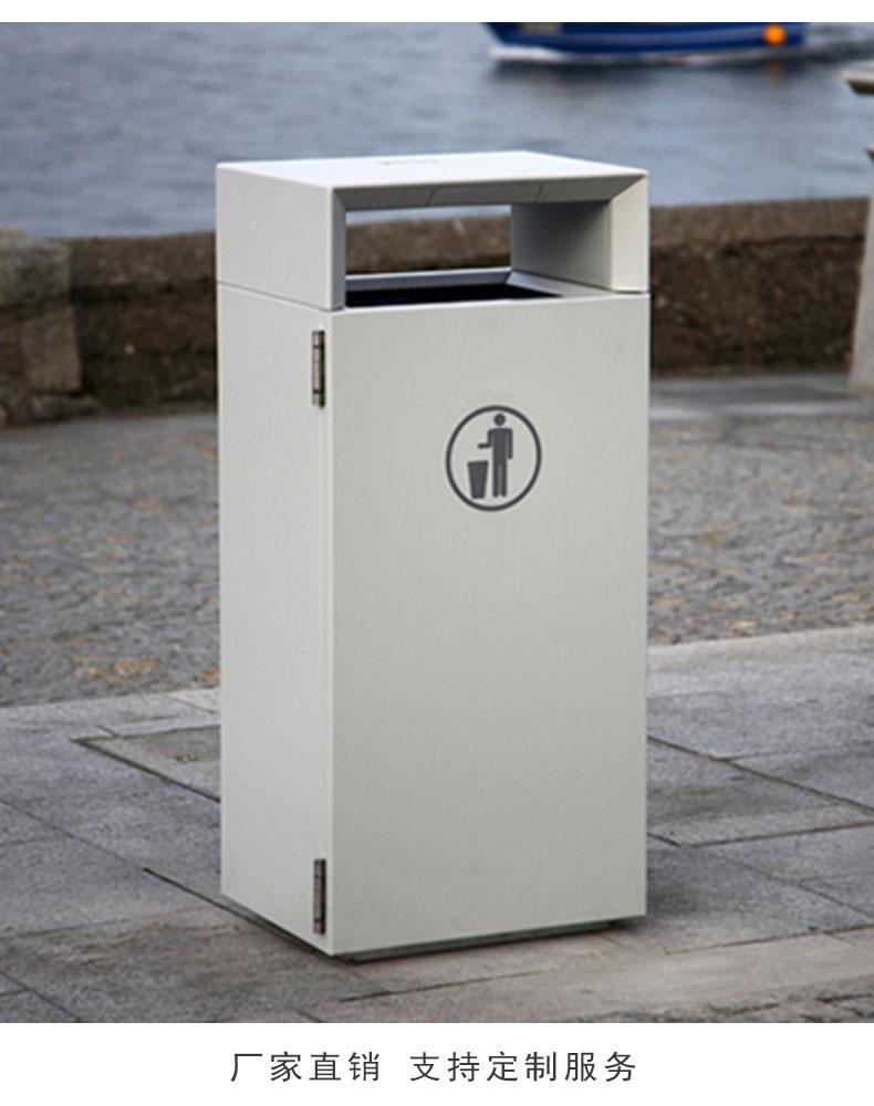 户外不锈钢垃圾桶定做简约方垃圾桶高档售楼部小区果皮箱