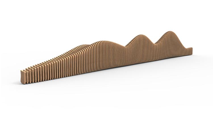 实木切片座椅艺术创意户外休闲椅