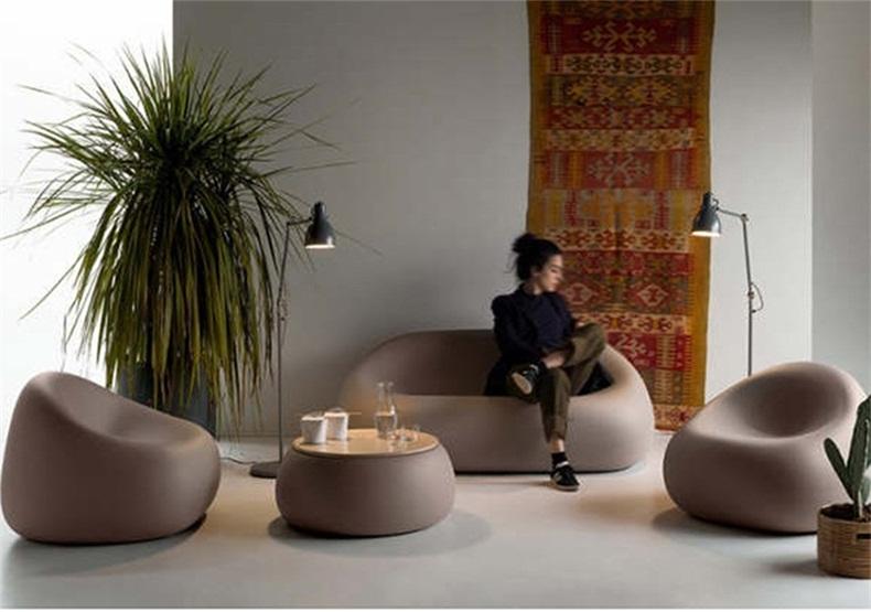 玻璃钢休闲椅酒店别墅会所简约时尚休息椅接待洽谈桌椅组合小圆桌