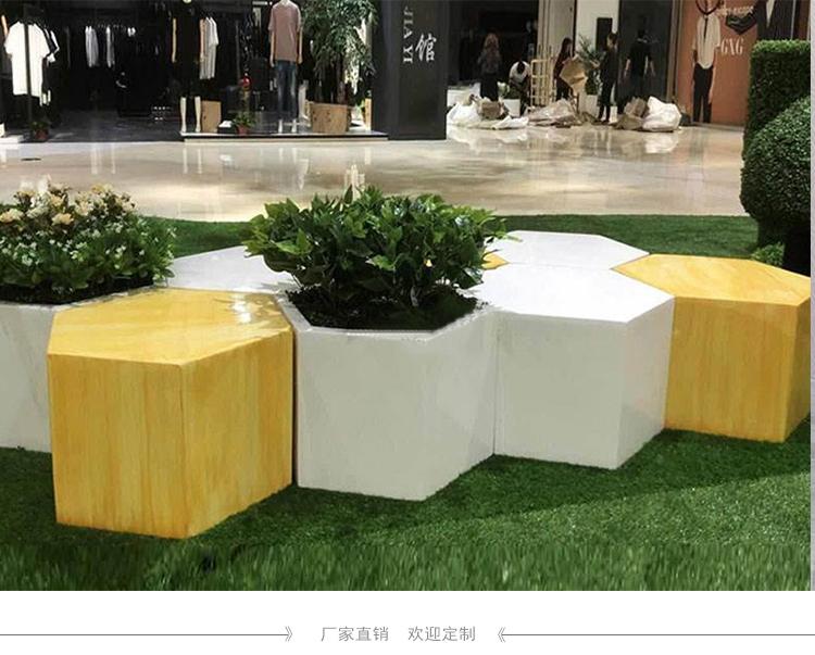 商场休闲座椅组合卡通等候休息公共玻璃钢异形坐凳