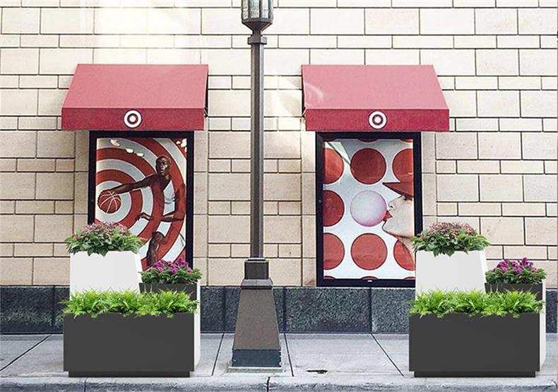 户外玻璃钢花盆长方形广场商业街花箱