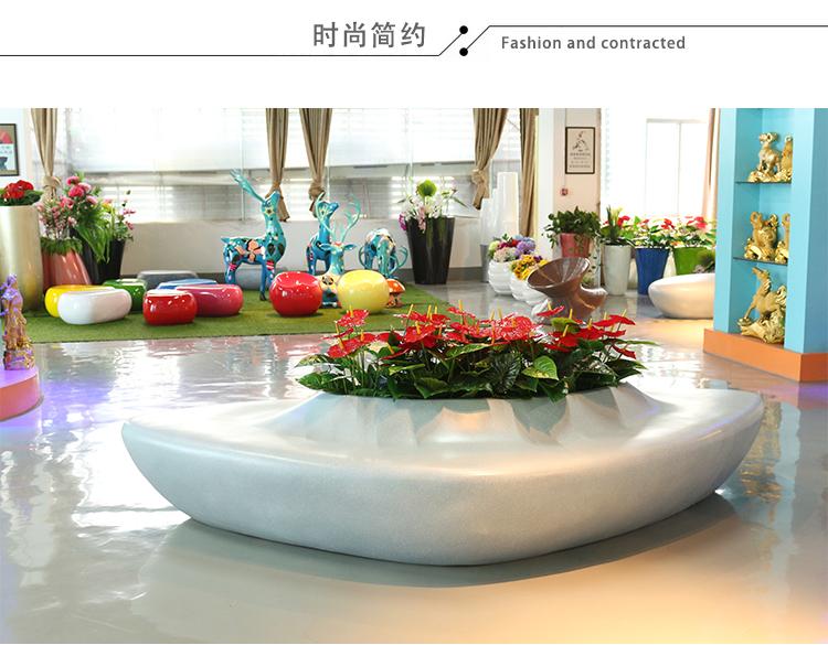 玻璃钢机场等候椅休息椅创意凳商场休闲花盆组合坐凳