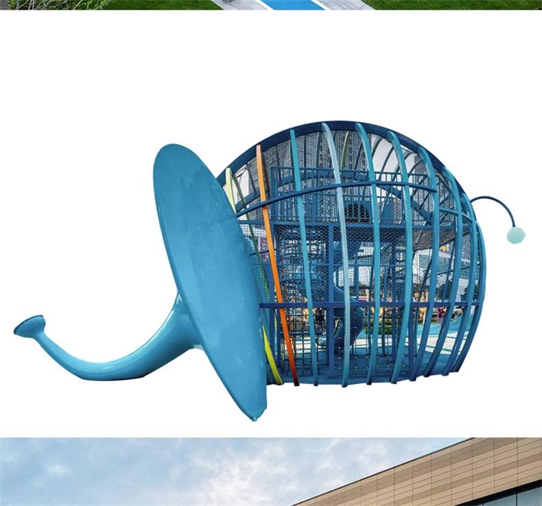 不锈钢儿童游乐设备玻璃钢滑梯造型
