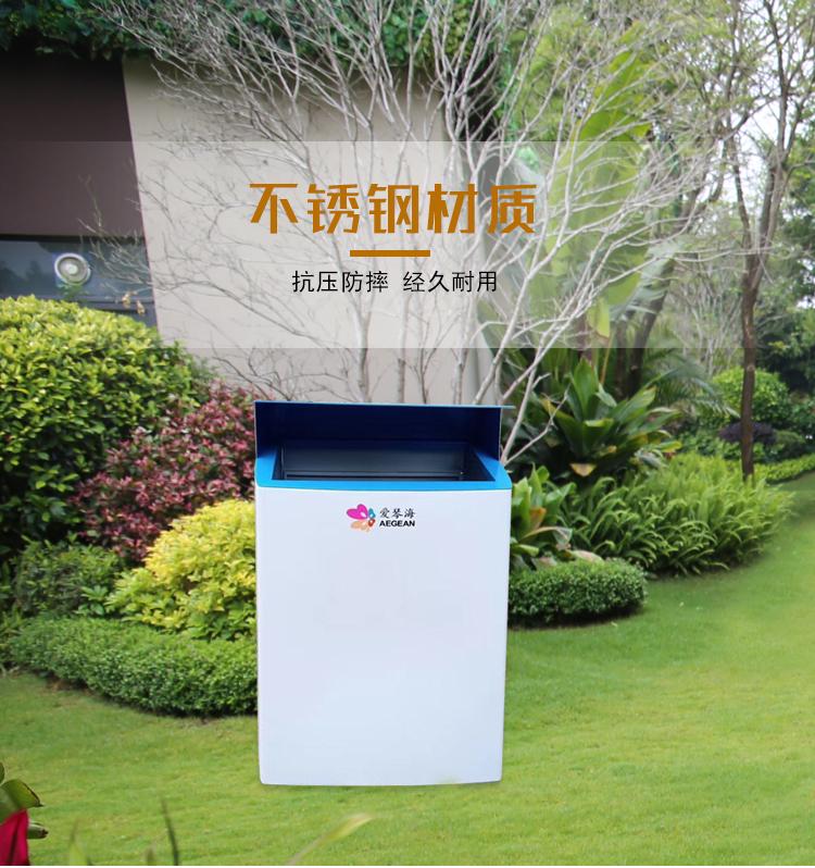 不锈钢垃圾桶户外简约果皮箱高档室外创意定制售楼部商业小区广场