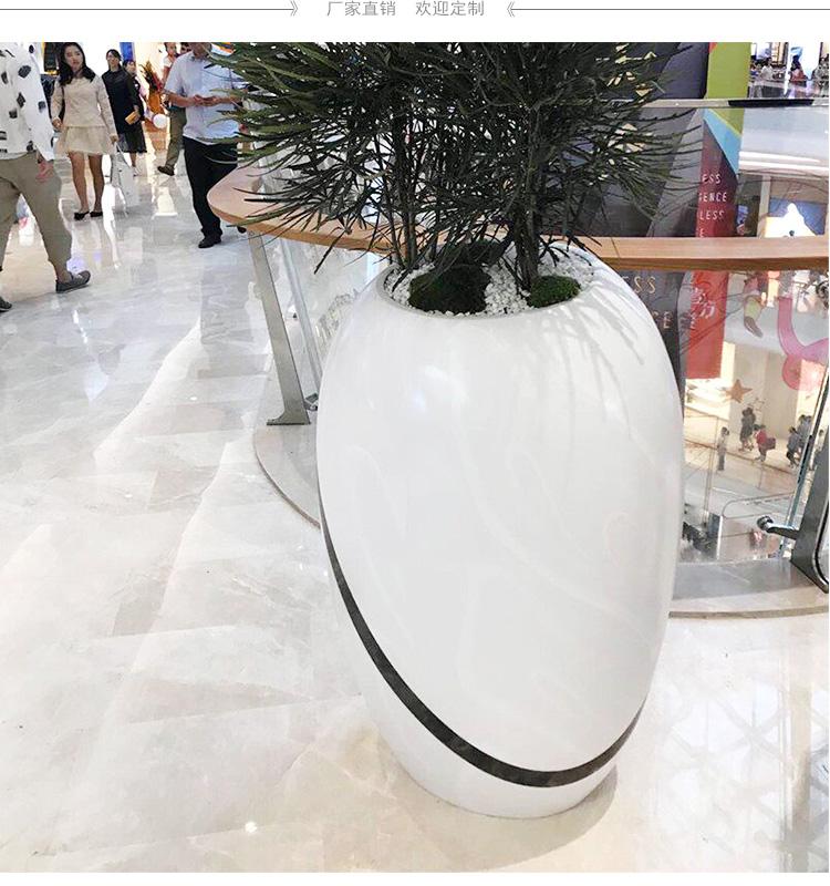 商场玻璃钢花器组合酒店大厅花瓶