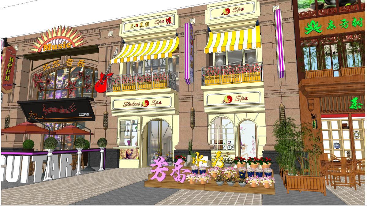 泉州万达商业街购物广场售楼处美陈