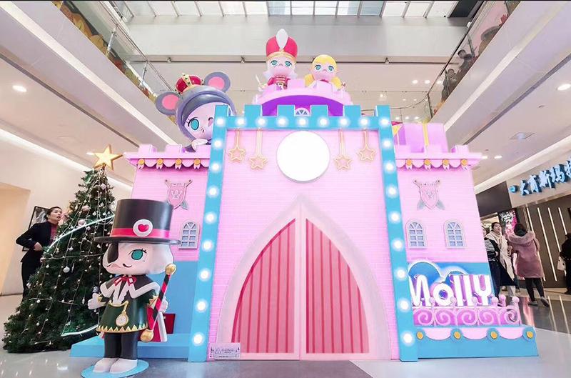 郑州新田360广场景区商业街美陈制作
