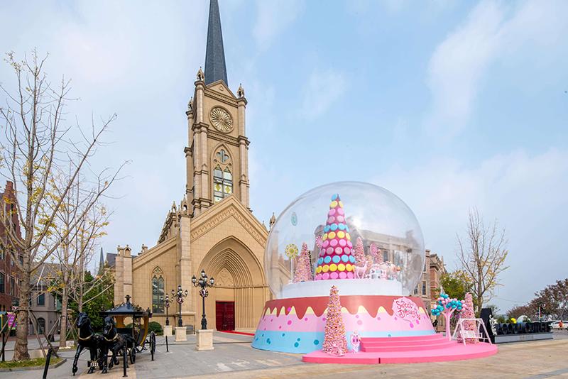 武汉绿地城欧洲风情小镇景区美陈