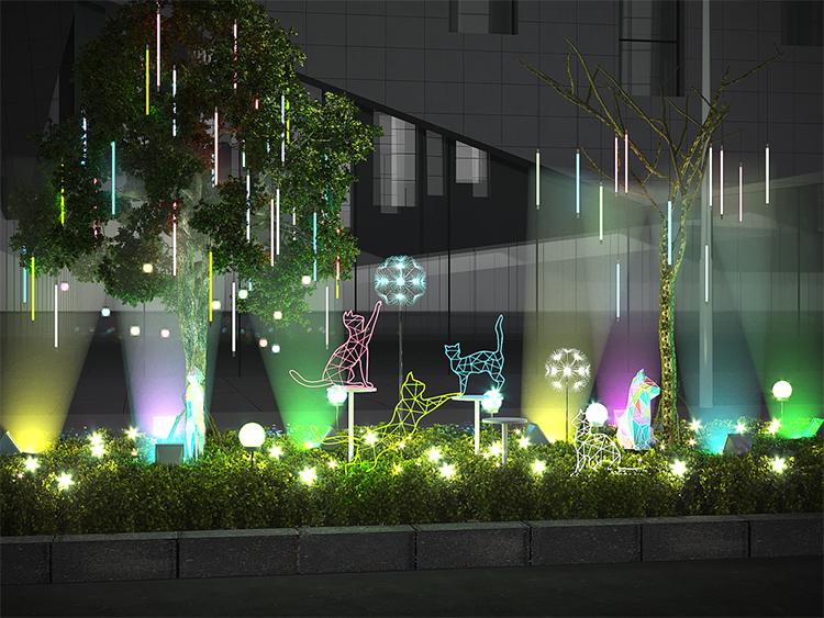 上海青浦万达购物广场商业街售楼处美陈