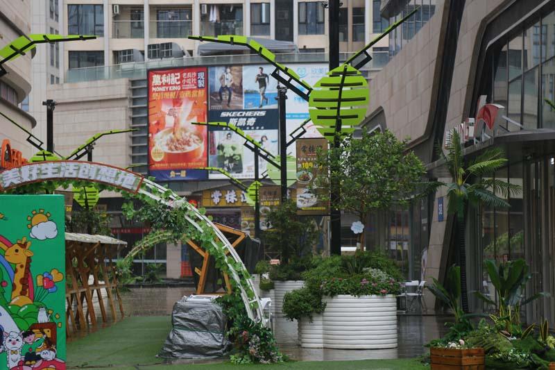 深圳平湖天虹商业美陈装饰,美的享受!