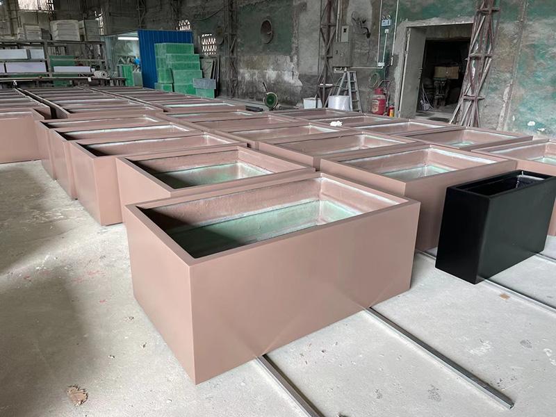 玻璃钢大号花盆长方形户外景观花箱